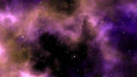 Fondo panorámico de la nebulosa Imágenes de archivo libres de regalías