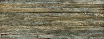 Fondo panorámico del grunge de viejos tableros de madera Imagen de archivo