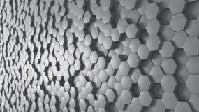 Fondo panorámico hexagonal Foto de archivo libre de regalías