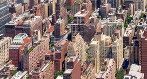 Fondo panoramico delle costruzioni di New York Fotografie Stock