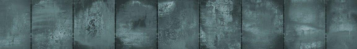 Fondo panoramico Grungy monocromatico del metallo (formato della scatola di lettera) fotografia stock libera da diritti