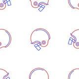 Fondo para el casco de fútbol americano americano Foto de archivo