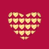 Fondo para el día de tarjeta del día de San Valentín Imagen de archivo libre de regalías
