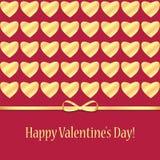 Fondo para el día de tarjeta del día de San Valentín Imagen de archivo
