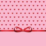 Fondo para el día de tarjeta del día de San Valentín Fotografía de archivo libre de regalías