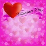 Fondo para el día de tarjeta del día de San Valentín de tarjeta de felicitación stock de ilustración