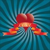 Fondo para el día de tarjetas del día de San Valentín Fotos de archivo