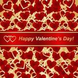Fondo para el día de tarjetas del día de San Valentín o el diseño de la boda. Foto de archivo libre de regalías