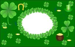 Fondo para el día del St. Patrick Imágenes de archivo libres de regalías