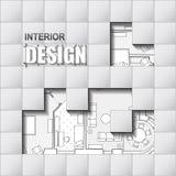 Fondo para el diseño de interiores Imagen de archivo