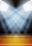 Fondo para el estadio del voleibol de la noche de los carteles adentro Foto de archivo libre de regalías