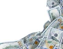 Fondo para el texto con los billetes de banco del dólar Imagen de archivo