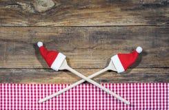Fondo para la comida del menú de la Navidad Fotos de archivo