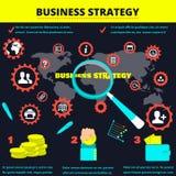 Fondo para la información estrategia empresarial del infographics Modelo comercial Imágenes de archivo libres de regalías