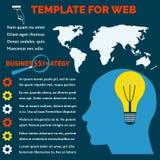 Fondo para la información estrategia empresarial del infographics Modelo comercial Fotografía de archivo