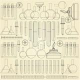 Fondo para la química Fotografía de archivo