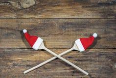 Fondo para la tarjeta del menú de la comida de la Navidad Imagen de archivo libre de regalías