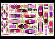 Fondo para los cosméticos Foto de archivo libre de regalías