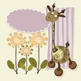 Fondo para los niños con la jirafa Libre Illustration