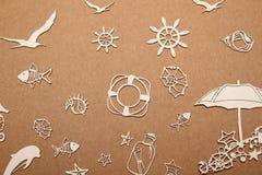 Fondo para un viaje del mar Imágenes de archivo libres de regalías