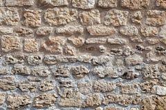 Fondo, parete strutturata della pietra della sabbia Fotografia Stock Libera da Diritti