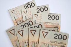 Fondo a partir del zloty polaco el 200 Imagen de archivo