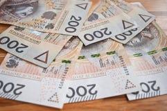 Fondo a partir del zloty polaco el 200 Foto de archivo libre de regalías