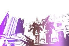 Fondo Partying del extracto de la vida nocturna de la diversión púrpura Fotografía de archivo libre de regalías