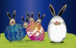 Fondo Pasqua (testo felice di pasqua in uovo) Immagini Stock