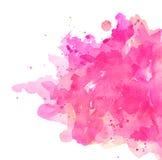 Fondo pastello dei punti rosa dell'estratto quadrato dell'acquerello illustrazione di stock