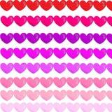 Patrón pancarta corazón colores. Fondo patrón de colores pared de ladrillos fucsia verde amarillo rosa azul Royalty Free Stock Photos