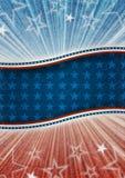 Fondo patriótico americano abstracto Imagen de archivo libre de regalías