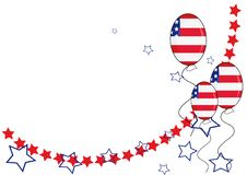 Fondo patriótico americano para el Día de la Independencia Imágenes de archivo libres de regalías