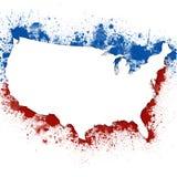 Fondo patriótico de Estados Unidos Imágenes de archivo libres de regalías
