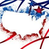 Fondo patriótico de Estados Unidos Imagen de archivo libre de regalías