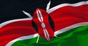 Fondo patriótico de la bandera de Kenia, ejemplo 3d ilustración del vector