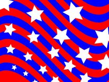 Fondo patriótico de la onda Fotos de archivo