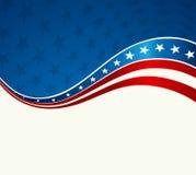 Fondo patriótico de la onda libre illustration