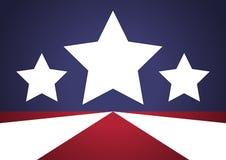 Fondo patriótico de las estrellas Fotografía de archivo