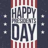 Fondo patriótico feliz de presidentes Day ilustración del vector