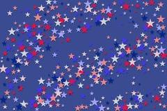 Fondo patriottico americano rosso delle stelle blu illustrazione di stock