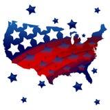 Fondo patriottico degli Stati Uniti Fotografia Stock Libera da Diritti