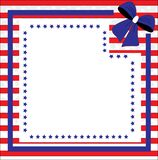Fondo patriótico para el cuarto de julio Imagenes de archivo