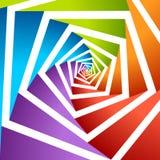 Fondo pentagonal del gráfico de vector de las ilustraciones del agujero Imágenes de archivo libres de regalías