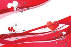 Fondo per i biglietti di S. Valentino Fotografie Stock
