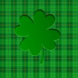 Fondo per il giorno del ` s di St Patrick con i trifogli fortunati Illustrazione di vettore illustrazione vettoriale