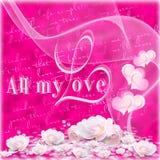 Fondo per il giorno di biglietti di S. Valentino Fotografia Stock Libera da Diritti