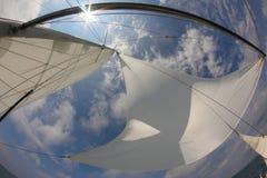 Fondo per il viaggio - vele in pieno di vento Immagine Stock