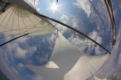 Fondo per il viaggio - vele in pieno di vento Immagini Stock Libere da Diritti