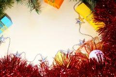 Fondo per la scrittura delle congratulazioni per il Natale e nuovo sì Fotografia Stock